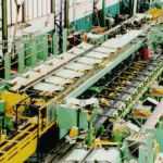 Production line for tubes, hollow bars and bars