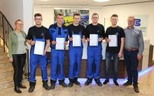 Our apprentices together with Petra Bültmann-Steffin and Andreas Bültmann