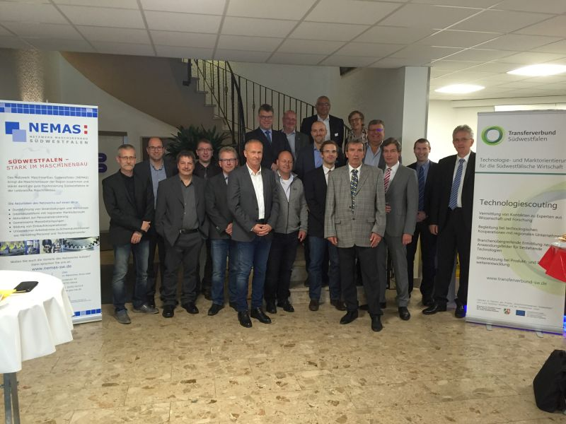 Machine building companies from South Westphalia as guests with Bültmann